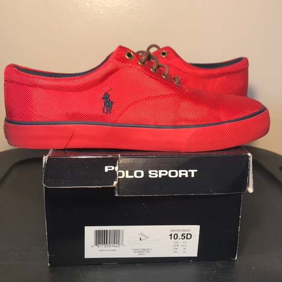 Ralph Lauren Polo Sport Red Shoes 5